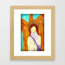 Be Like a Tree Framed Art Print
