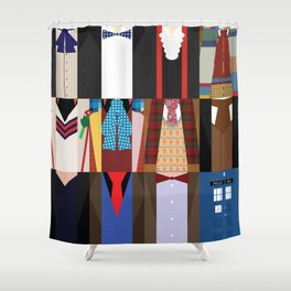 The Doctors   Doctor Who U0026 TARDIS Shower Curtain