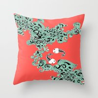 pisces Throw Pillows featuring Pisces by LindsayMichelle