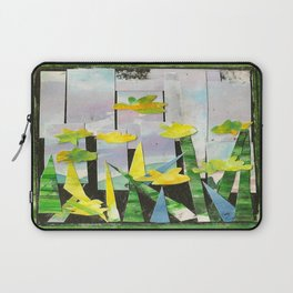 Flowers in Green Laptop Sleeve