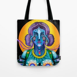 Blue, Young God Tote Bag