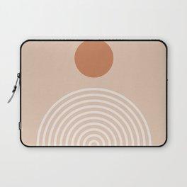 Minimalist Geometric Rainbow Print - midten av århundre, geometrisk veggkunst, abstrakt veggkunst, g Laptop Sleeve