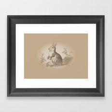Bunny Rabbit {teddy bear brown} Framed Art Print