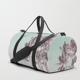 Tropical Palm Trees In Surreal Pink Duffle Bag