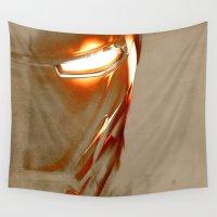 iron man Wall Tapestries featuring Iron Man by Fernando Vieira