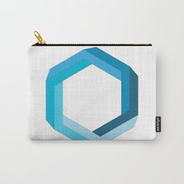Impossible shape: blue hexagon Carry-All Pouch