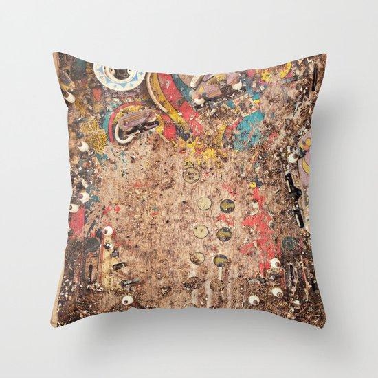 Pinball Machine Throw Pillow