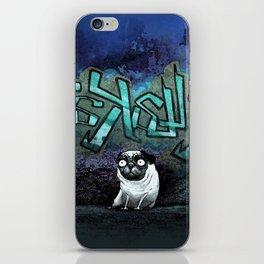 Graffiti Pug iPhone Skin