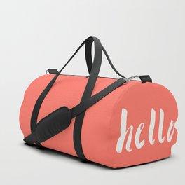 Hello x Coral Script Duffle Bag