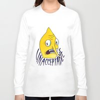 lemongrab Long Sleeve T-shirts featuring Unacceptable | Lemongrab by ScarlettDesigns
