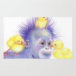 Babies, Orangutan and Ducklings Rug