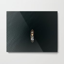 Iceland Ship from Above - Ocean Photography Metal Print