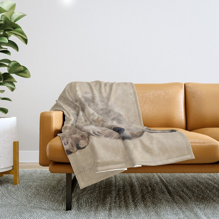 Labradoodle Throw Blanket
