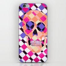 skulladelic pink plaid iPhone & iPod Skin