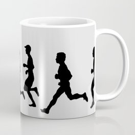 Transitions through Triathlon Runners Drawing B Coffee Mug