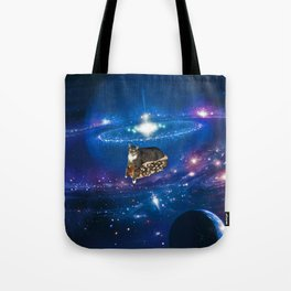 Floating on a Chili Dog Tote Bag