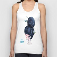 libra Tank Tops featuring Libra by Aloke Design