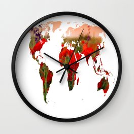 World of Poppies Wall Clock