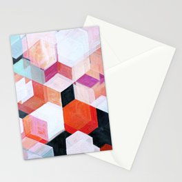 White Paint and Some Colors Stationery Cards