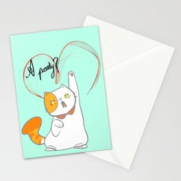 exotic short kitty Stationery Cards