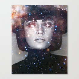 Shes a witch girl Canvas Print