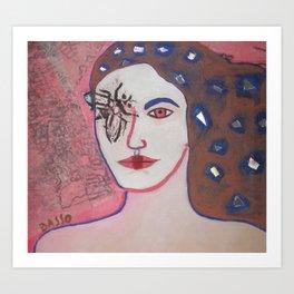 cara de mosca Art Print