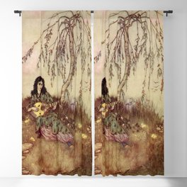 Beauty Had A Brave Heart By Edmund Dulac Blackout Curtain
