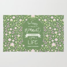 Be Happy for This Momment – Omar Khayyam's Quote Rug