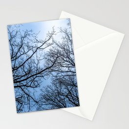 Eerie naked trees tops Stationery Cards