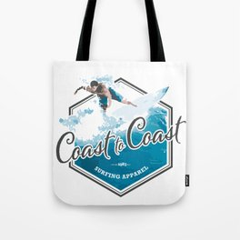 Surfing Coast to Coast Tote Bag