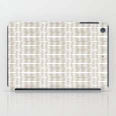 Beige waves iPad Case
