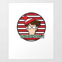 waldo Art Prints featuring Found Waldo! by EdwardJ