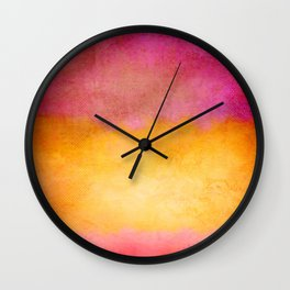 Purple Dawn Wall Clock