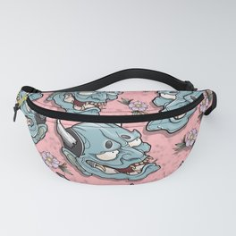 Hannya Flowers by Kevin Thrun Fanny Pack