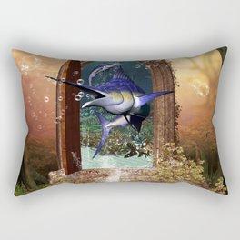 Awesome marlin Rectangular Pillow