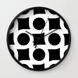 TIMELESS ORA. BLACK AND WHITE GEOMETRIC ELEMENTS Wall Clock