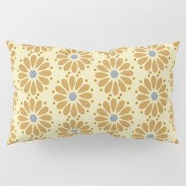 Golden floral on beige Pillow Sham