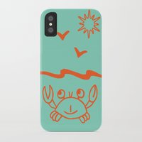crab iPhone & iPod Cases featuring crab by gzm_guvenc