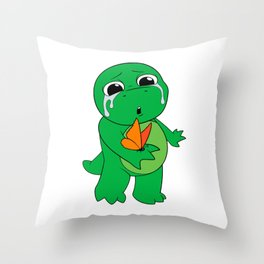 Little Dinosaur, Big Feelings (Flutter) Throw Pillow