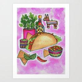 Piñata Taco Art Print
