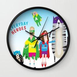 Everyday Heroes Wall Clock
