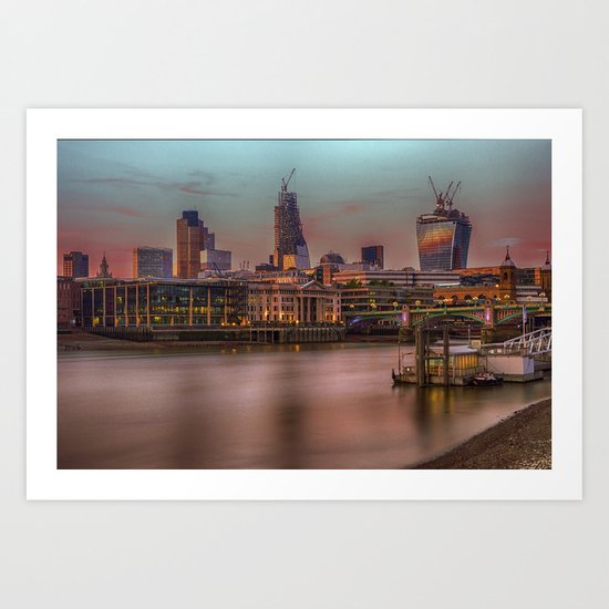 Days End in the City Art Print
