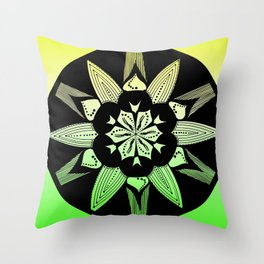 DK-145 (2009) Green and Yellow Throw Pillow