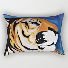 Golden Tiger Rectangular Pillow