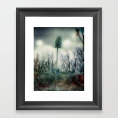 Ice Blue Meadow Framed Art Print