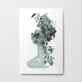 Freya's Hair (Teal) Metal Print