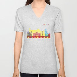 Cordoba skyline pop Unisex V-Neck
