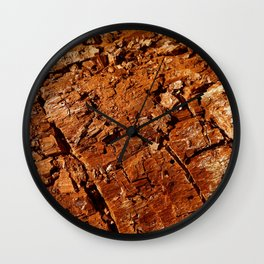 Wood - Texture and Colors Wall Clock