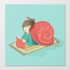 Cozy snail Canvas Print