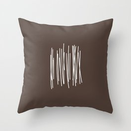 Wood in Brown - Minimalist Feng Shui - by Friztin Throw Pillow